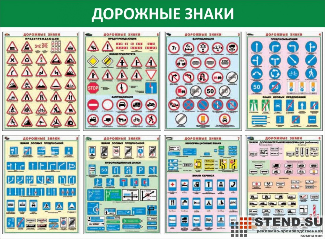 Макеты дорожных знаков